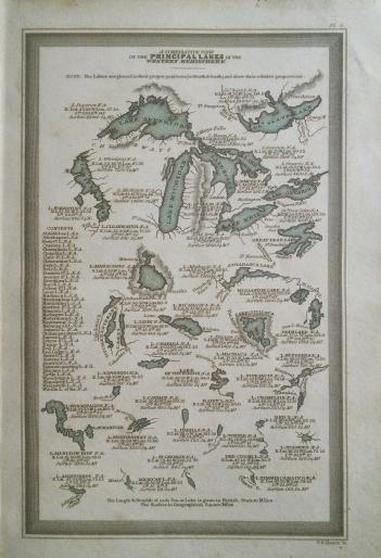 Carey & Lea lakes comparative, western hemisphere, 1832.