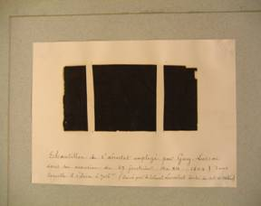 Fragment of Gay-Lussac's balloon envelope.