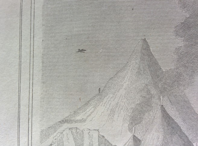 Humboldt's ascent of Chimborazo as shown on Thomson & Lizars' A Comparative View. Own work.
