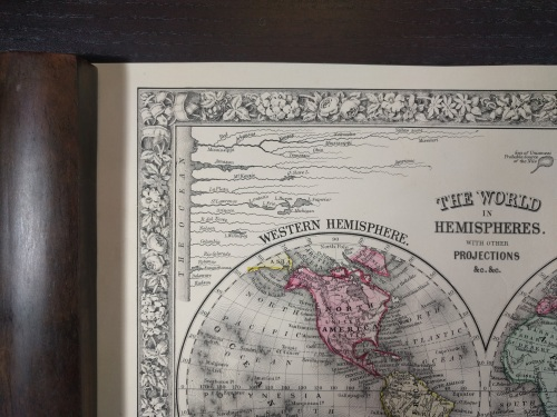 Comparative detail of Mitchell's 1860 'The World in Hemispheres' (own work).