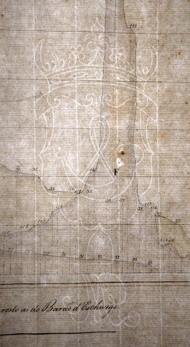 Photograph of watermark on Alturas map, circa 1824.